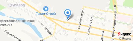 БСГ на карте Белгорода