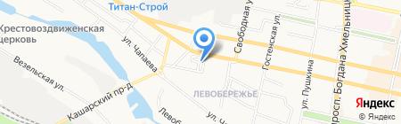 Западный на карте Белгорода