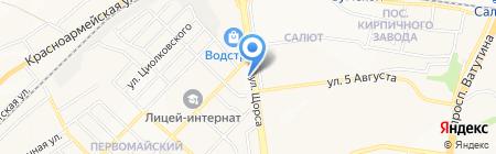 Делфика на карте Белгорода