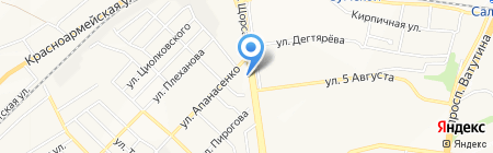 Галатея на карте Белгорода