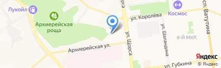 Семь Диванов на карте Белгорода