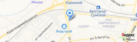 Сладик на карте Белгорода