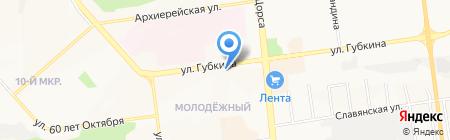 Сеть водоматов на карте Белгорода