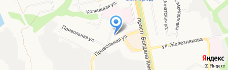 Автозащитник на карте Белгорода