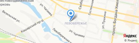 Белгородская детская музыкальная школа №1 на карте Белгорода