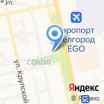 Азимут на карте Белгорода