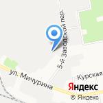 Эльта на карте Белгорода
