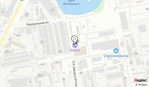 Олимп. Схема проезда в Белгороде