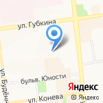 Средняя общеобразовательная школа №41 на карте Белгорода