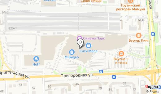 Denim. Схема проезда в Белгороде