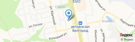 Риваль на карте Белгорода