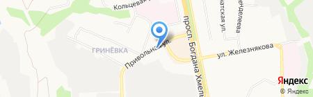 Съешка на карте Белгорода
