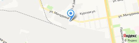 Авторемобъединение на карте Белгорода
