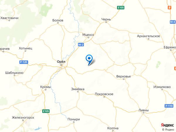 посёлок Степной на карте