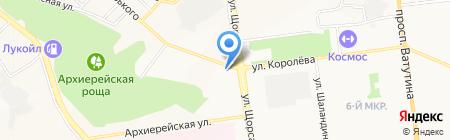 Скиф на карте Белгорода