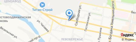 Банкомат КБ Транспортный на карте Белгорода