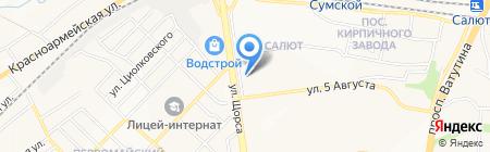 Бачио на карте Белгорода