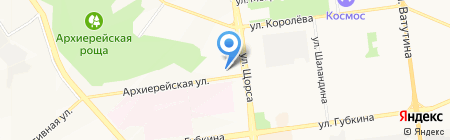 Магазин отделочных материалов на карте Белгорода