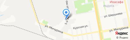 Растворный узел на карте Белгорода