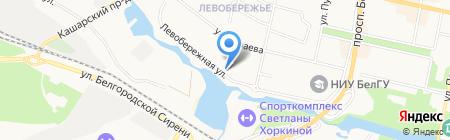 Исток на карте Белгорода