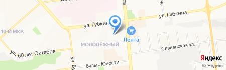 Ателье по ремонту одежды на ул. Губкина на карте Белгорода