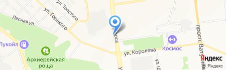 Бутуз на карте Белгорода