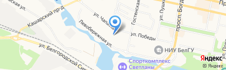 Детский сад №76 Солнышко на карте Белгорода