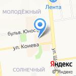 Ириска на карте Белгорода