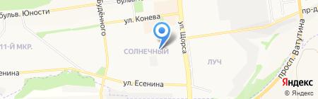 Чирада на карте Белгорода