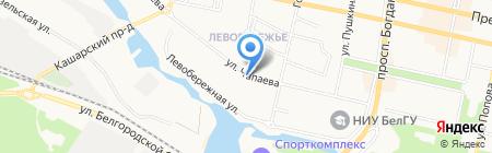 Народный на карте Белгорода