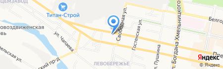 Софи на карте Белгорода