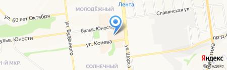 Сияние на карте Белгорода