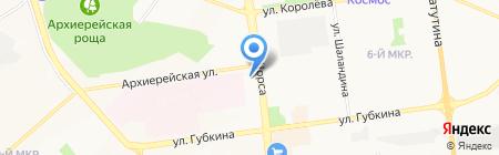 Лидия на карте Белгорода