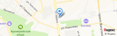 Бамбарбия на карте Белгорода