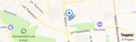 Семерида на карте Белгорода