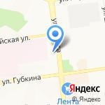 Виола на карте Белгорода