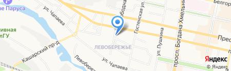 Пражна Брана на карте Белгорода