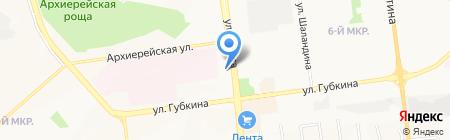 Ткани на карте Белгорода