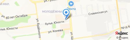 Авангард на карте Белгорода