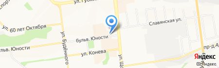 Варис на карте Белгорода