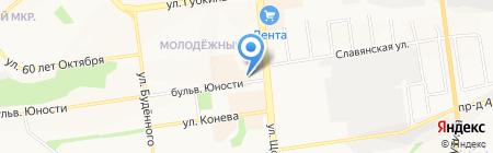Северное Сияние на карте Белгорода
