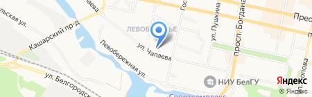Средняя общеобразовательная школа №21 на карте Белгорода