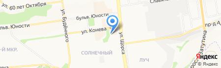 Алмазная ресничка на карте Белгорода