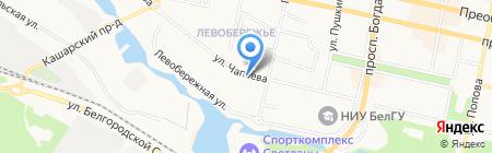 Магазин канцелярских товаров на карте Белгорода