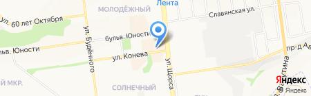 Русские узоры на карте Белгорода