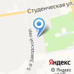 Газпром Газораспределение Белгород на карте Белгорода