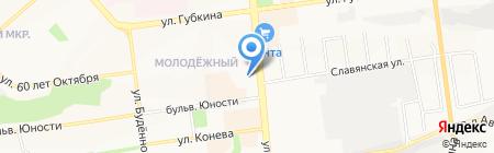 Виктория на карте Белгорода