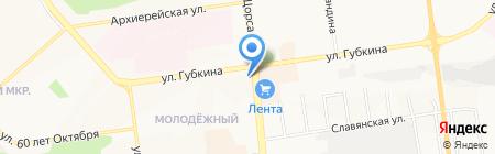 Каньон на карте Белгорода