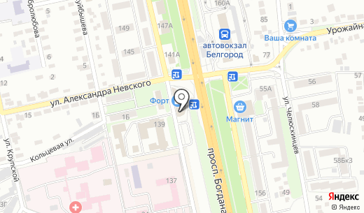 СтройКапитал. Схема проезда в Белгороде