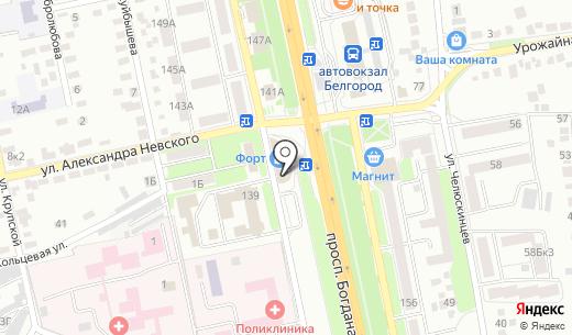 Очки. Схема проезда в Белгороде